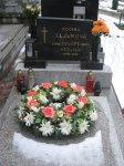 Náhrobný kameň Eduarda Slávku st. a manželky v Trenčíne