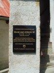 Detail pamätnej tabule na bobotskom kostole