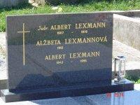 Lexmann Albert s manželkou a synom Albertom v Prievidzi